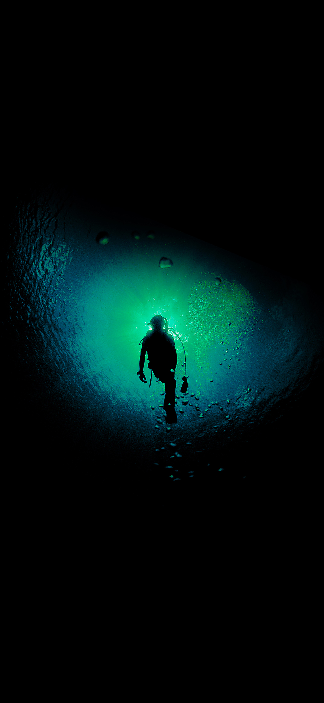 Deep blue dark ocean dive iPhone X ...