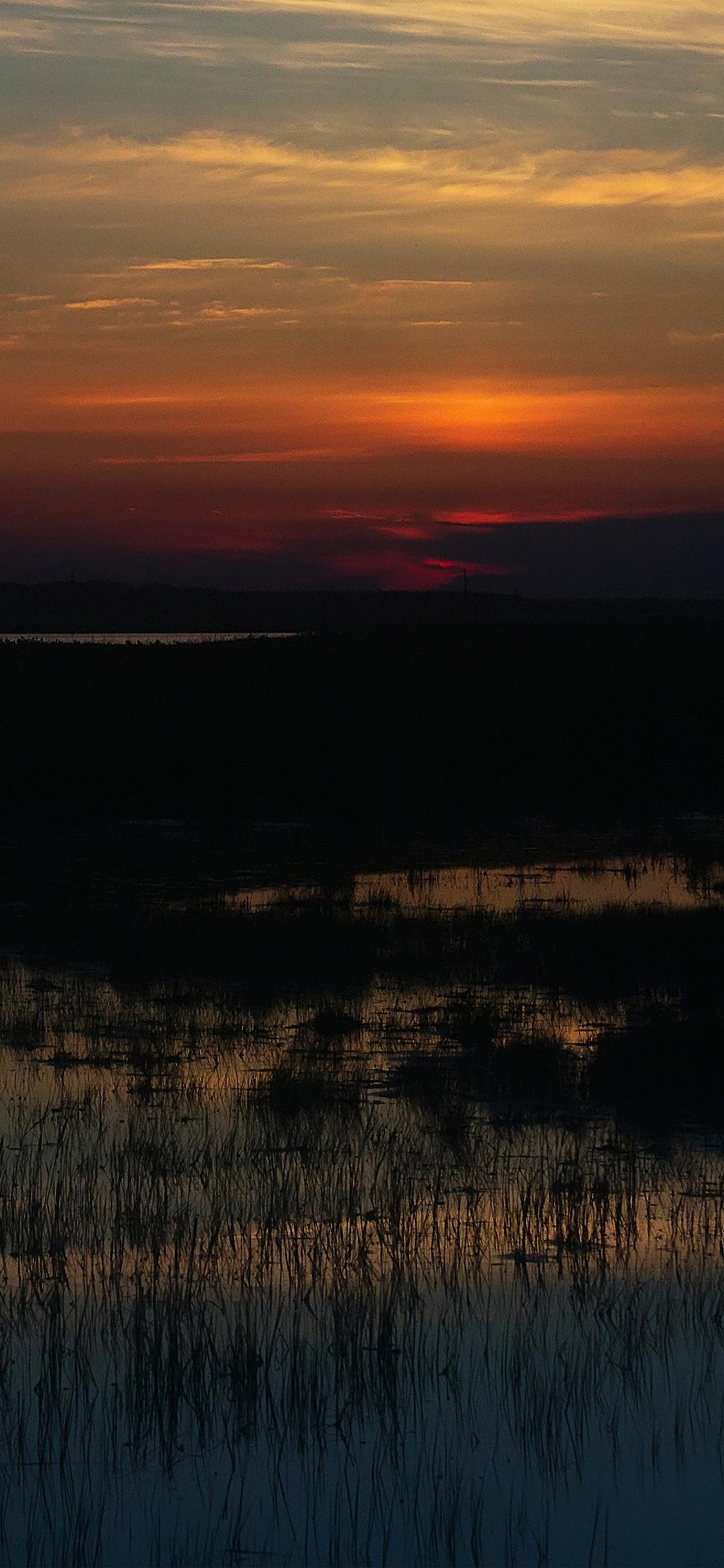 Sunset Lake Mountain Iphone X Wallpapers Free Download