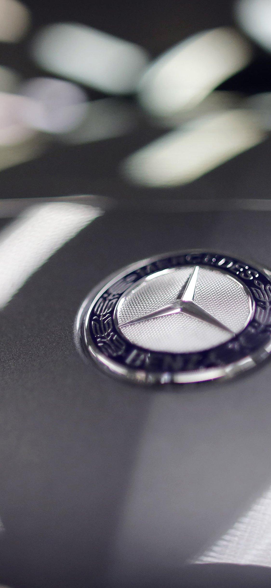 Benz Logo Car Art Iphone X Wallpapers Free Download