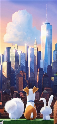 Secret life of pets animation iPhone X wallpaper