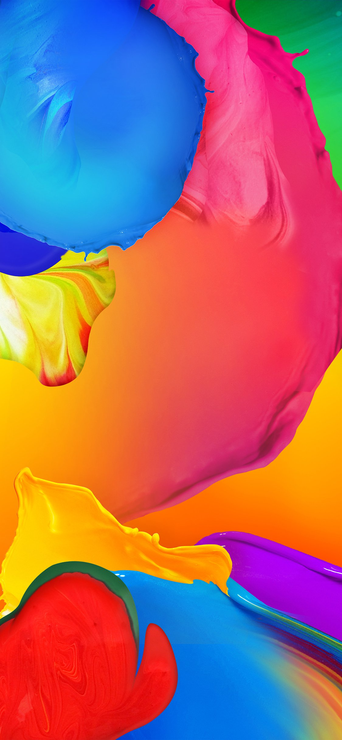 Rainbow color paint art ink default pattern iPhone X wallpaper