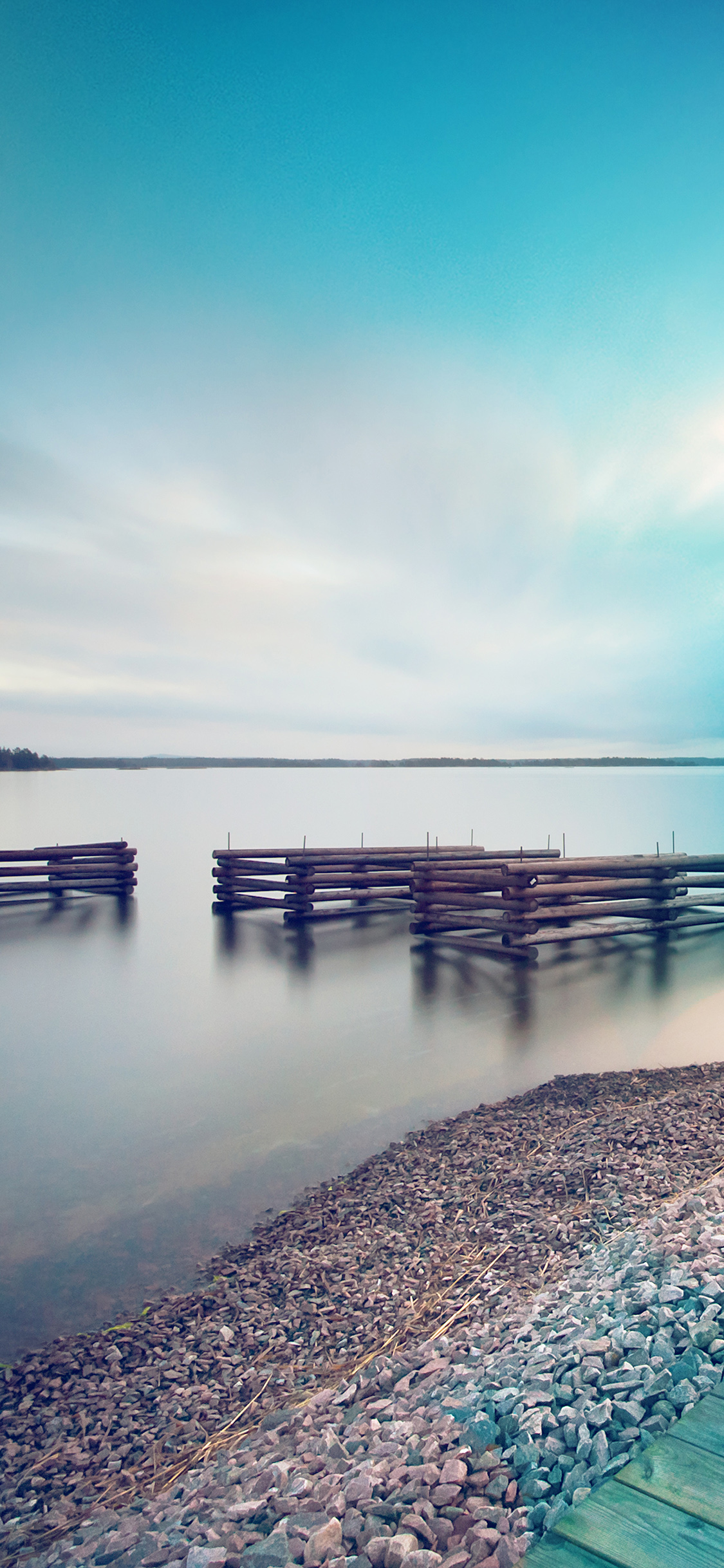 Lake Calm Beautiful Sea Water Blue Flare Iphone X Wallpapers Free