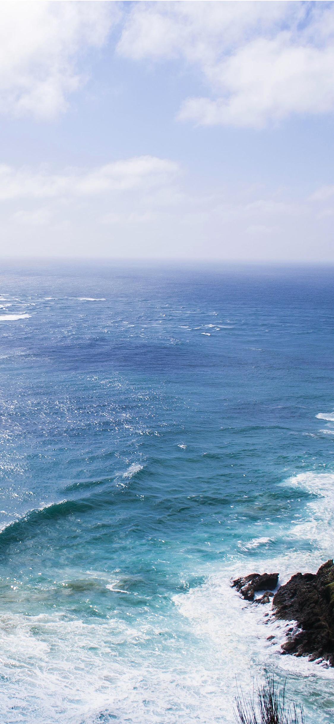 Sea Blue Wave Ocean Deep Rock Iphone X Wallpapers Free Download