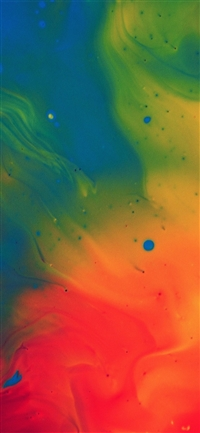 Blend color rainbow paint ink pattern iPhone X wallpaper