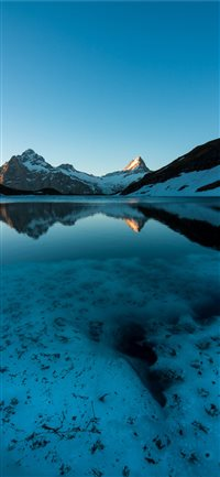 Bachalpsee  Grindelwald  Switzerland iPhone X wallpaper