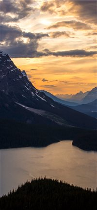 Peyto Sunset iPhone X wallpaper