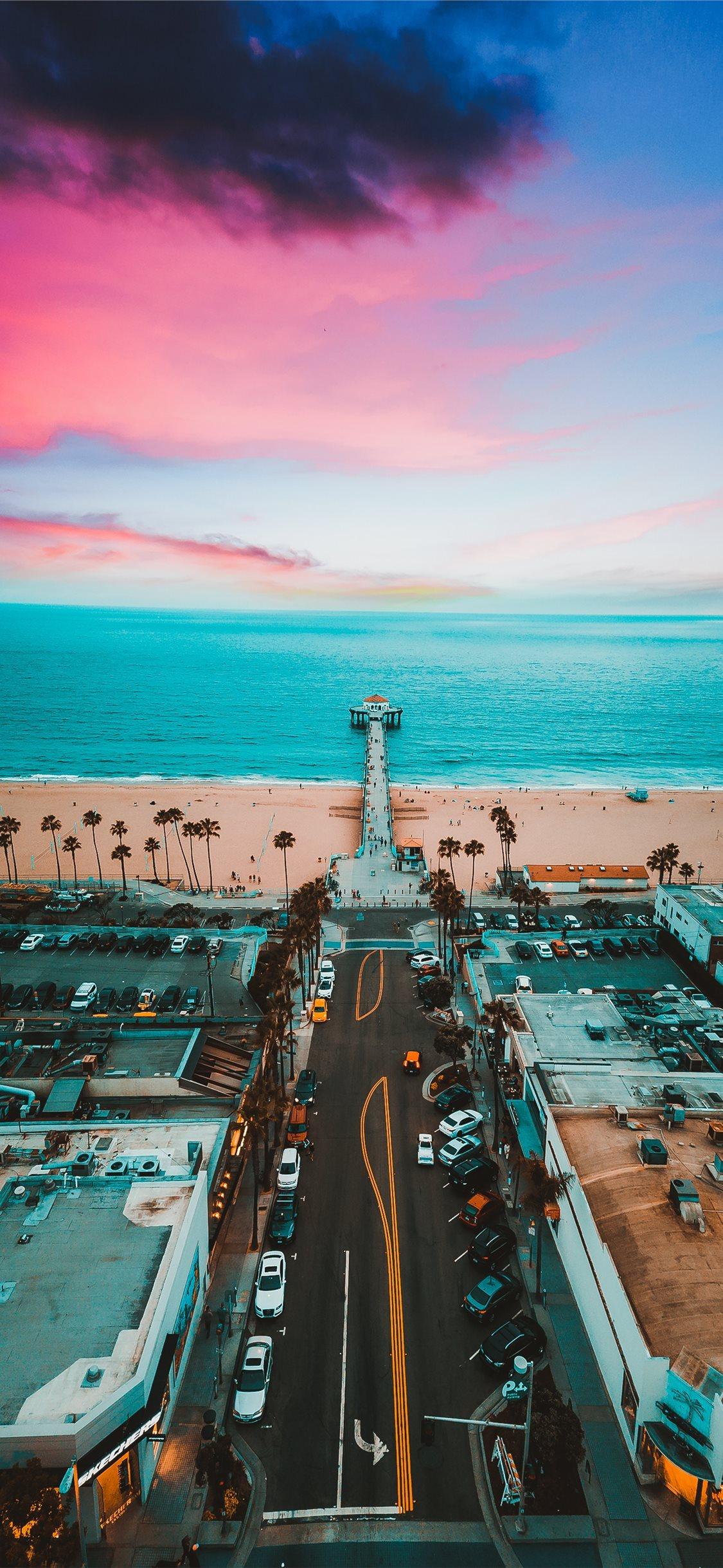 Manhattan Beach Pier Iphone X Wallpapers Free Download