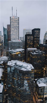 Toronto Financial District iPhone X wallpaper