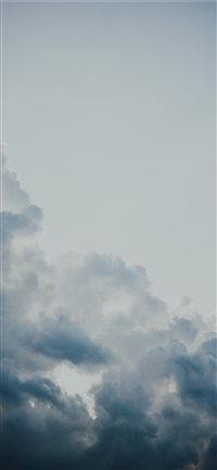 clouds iPhone X wallpaper