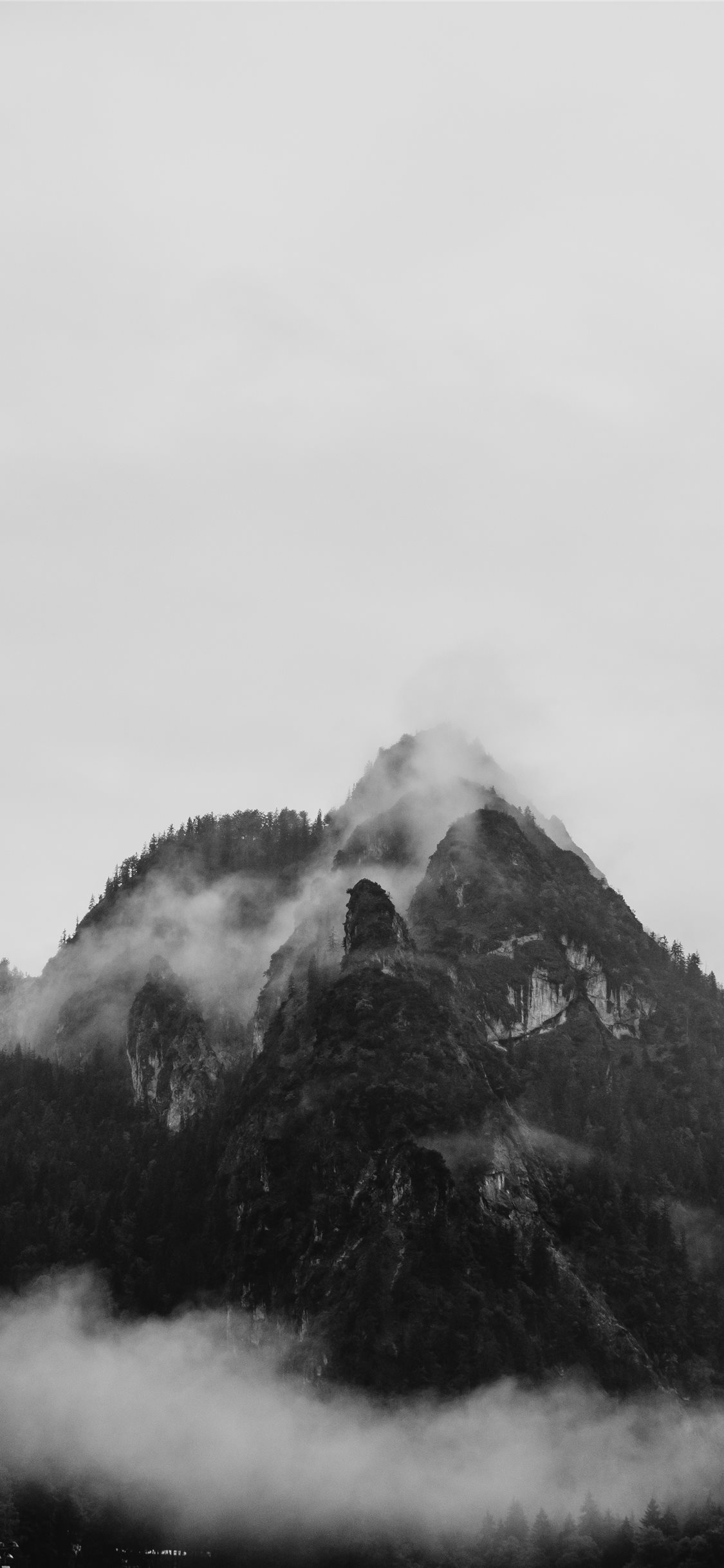 Mountain In The Fog Iphone X Wallpapers Free Download