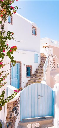 Greek Cottage iPhone X(S/Max/R) wallpaper