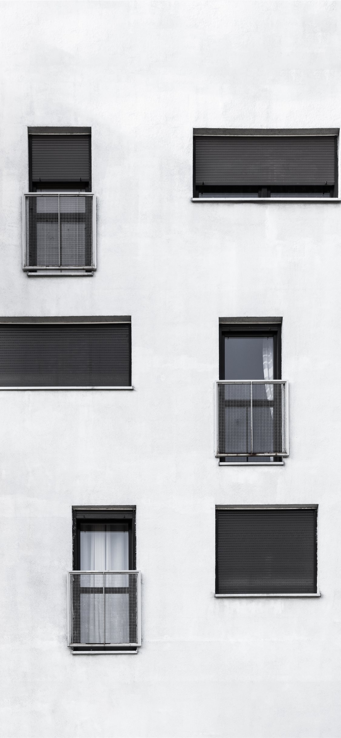 Black And White Side Of A Building Iphone Wallpapers Free