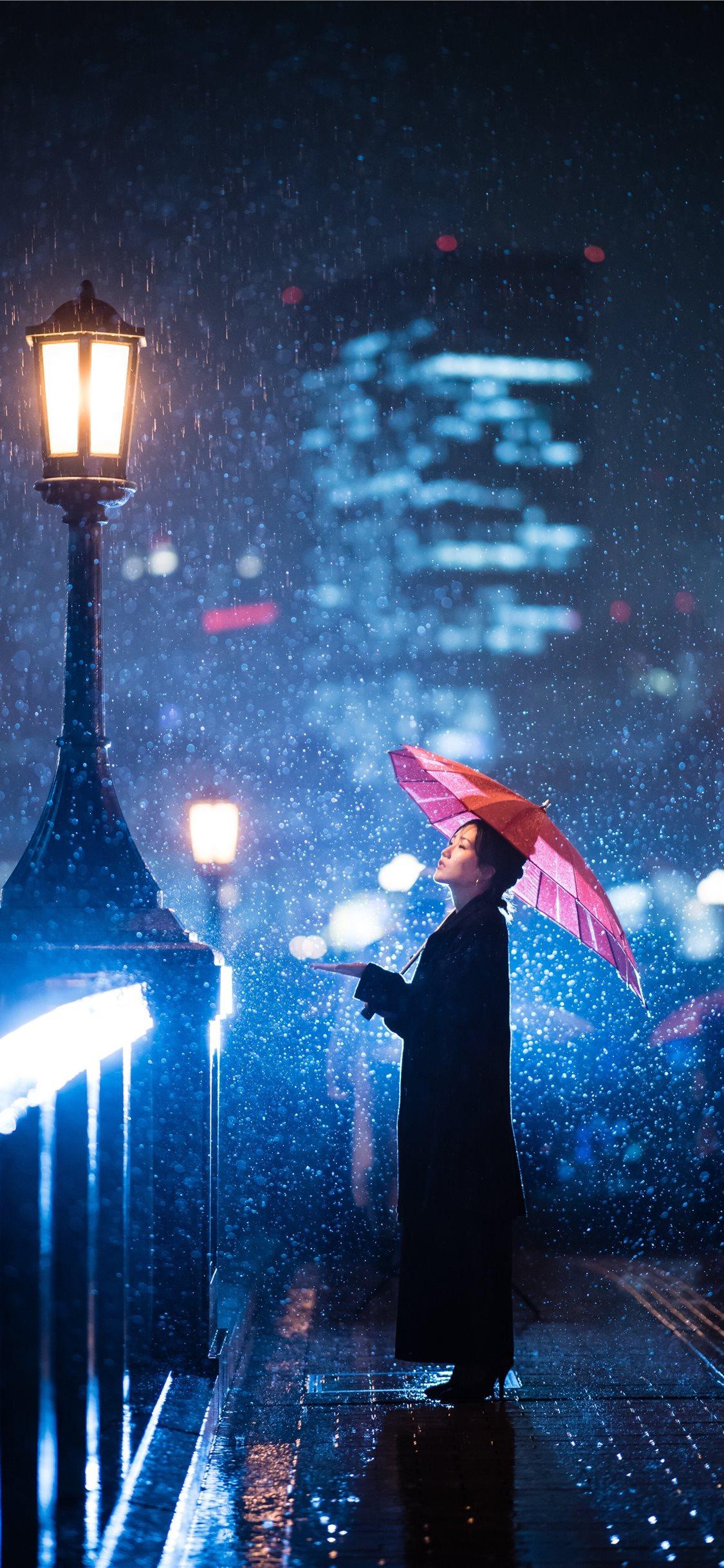 Rainy winter iPhone X Wallpapers Free