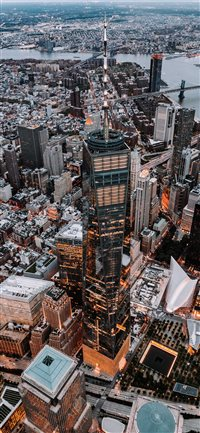 World Trade Centre from Above iPhone X(S/Max/R) wallpaper