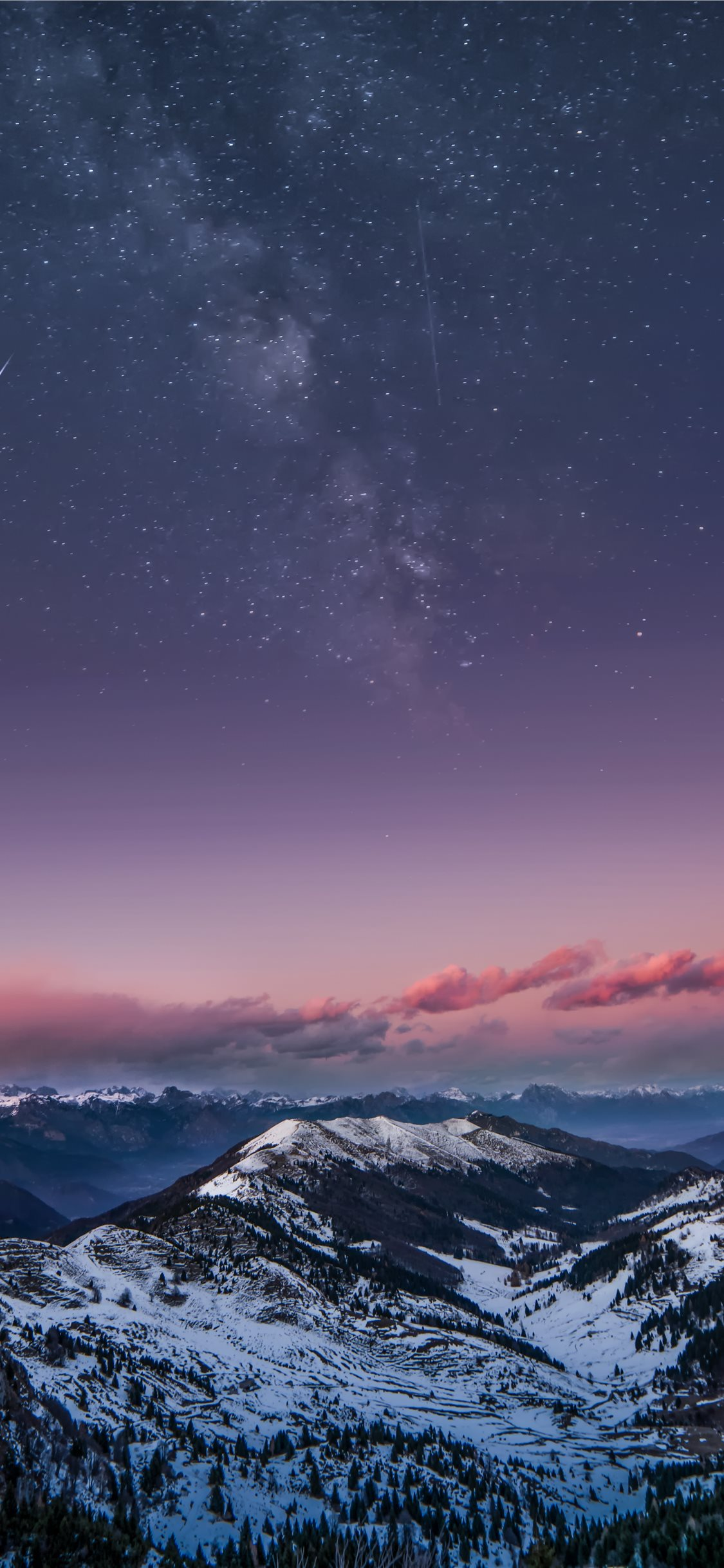 Mountain Milky Way Iphone X Wallpapers Free Download