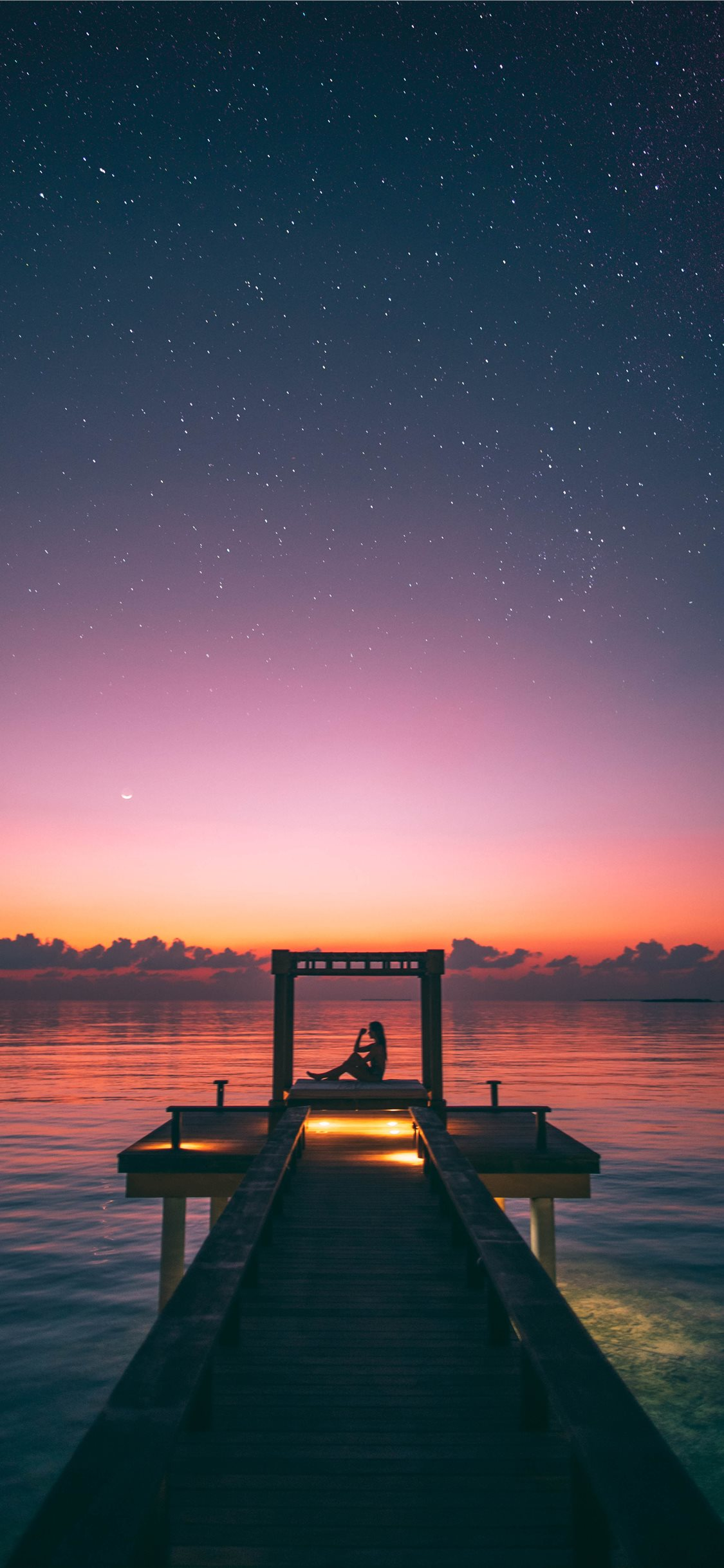 A Starry Night In The Maldives A Surreal Moment Iphone X