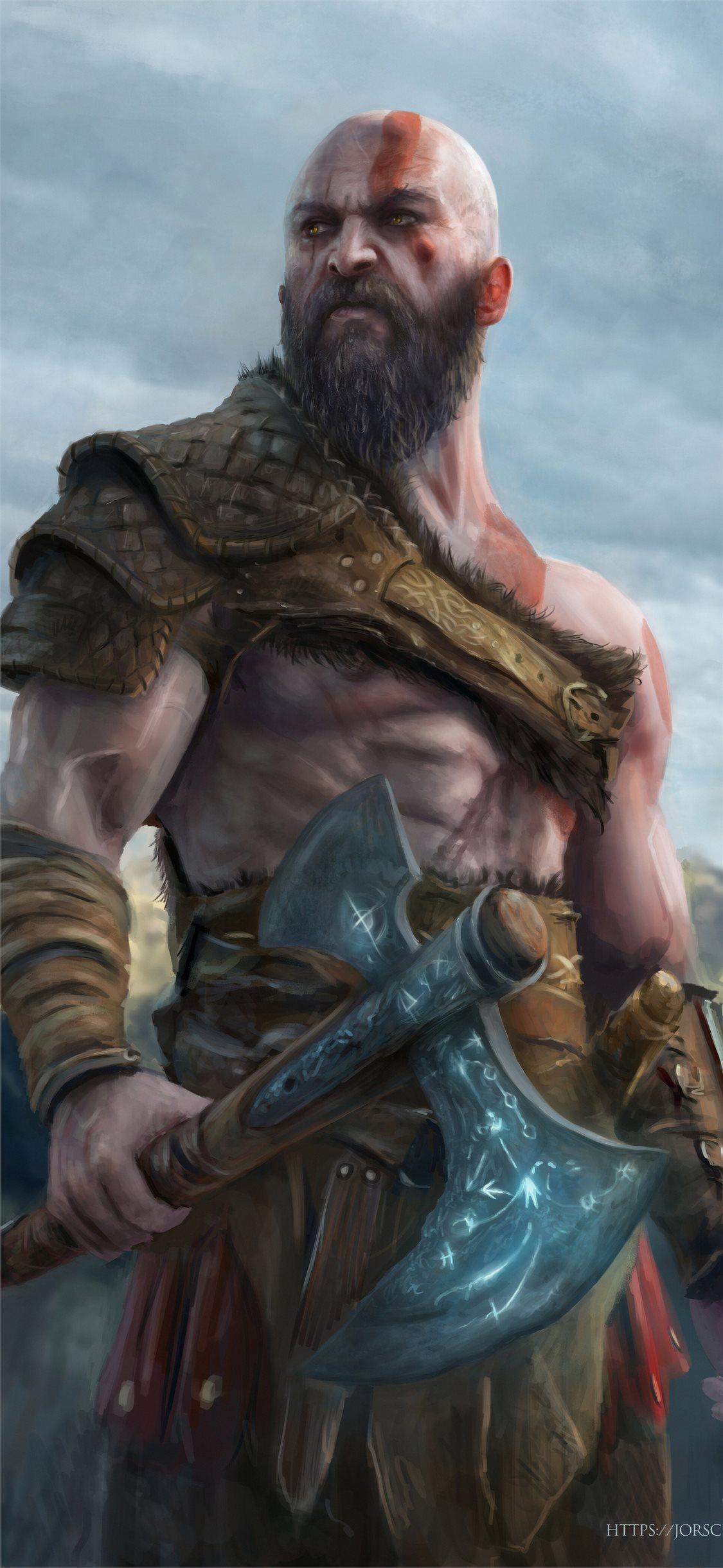 Kratos 4k New Artwork Iphone X Wallpapers Free Download