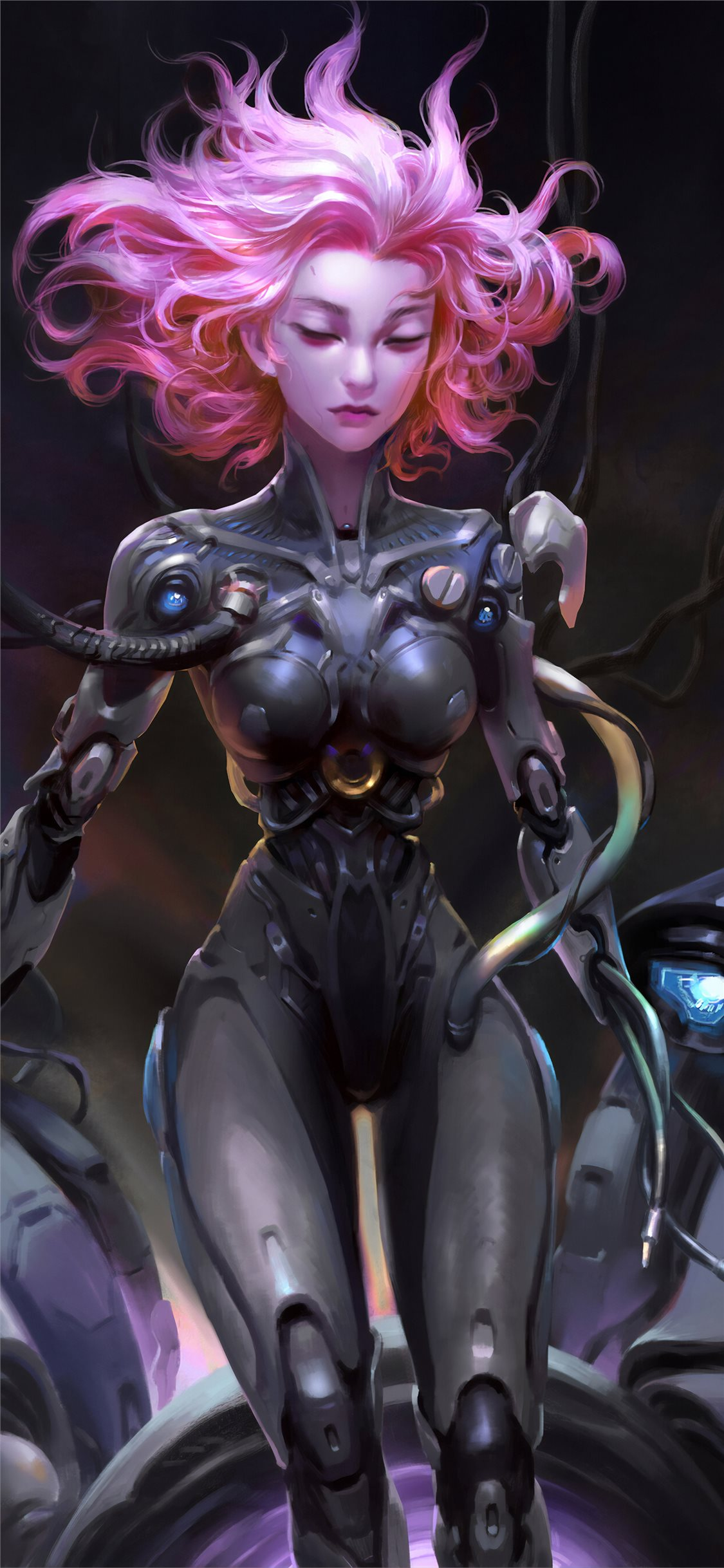 Dva Overwatch Cyborg Girl Iphone X Wallpapers Free Download