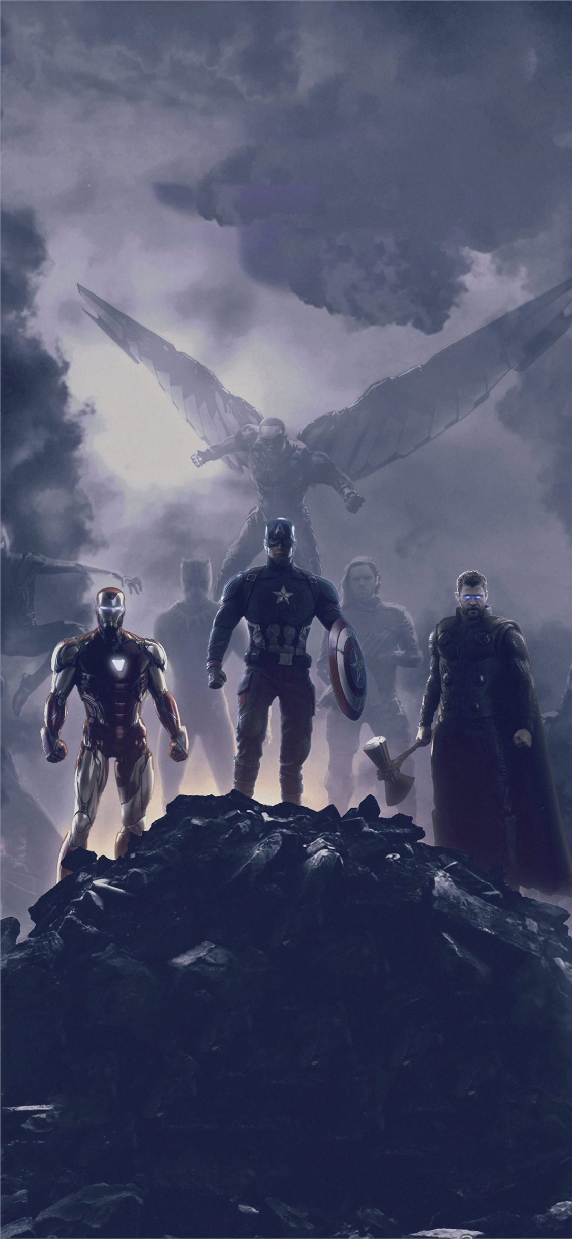 Avengers Endgame Trinity 2019 Iphone X Wallpapers Free Download