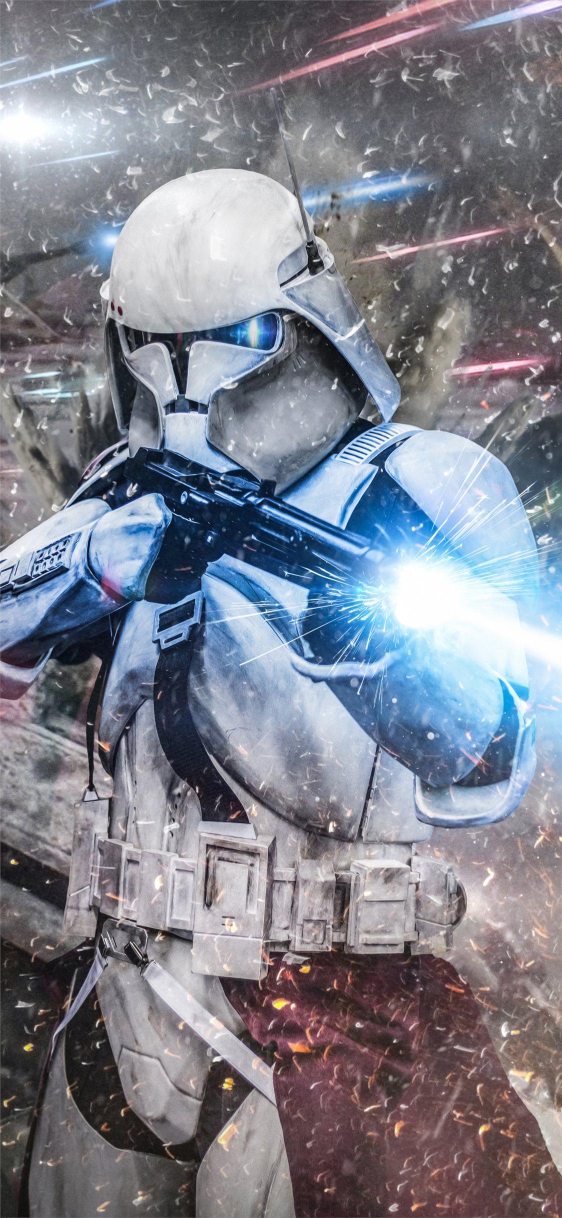 stormtrooper commander iphone x wallpaper ilikewallpaper com