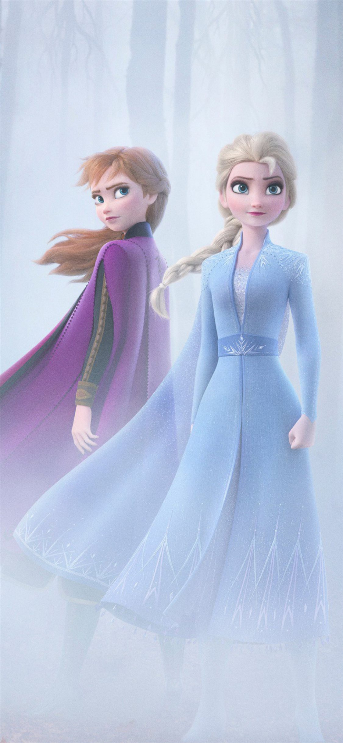 Anna And Elsa In Frozen 2 4k Iphone X Wallpapers Free Download