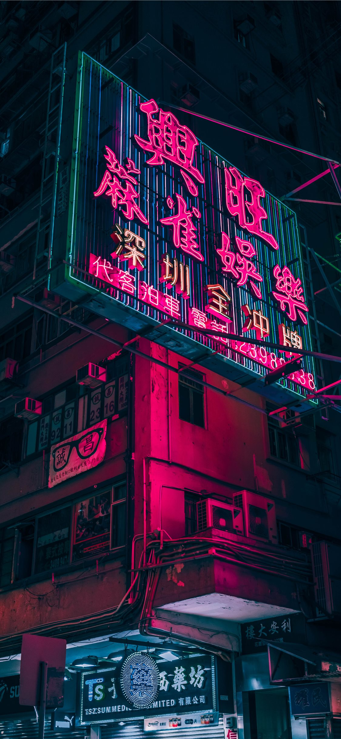 red and black lighted signage iphone x