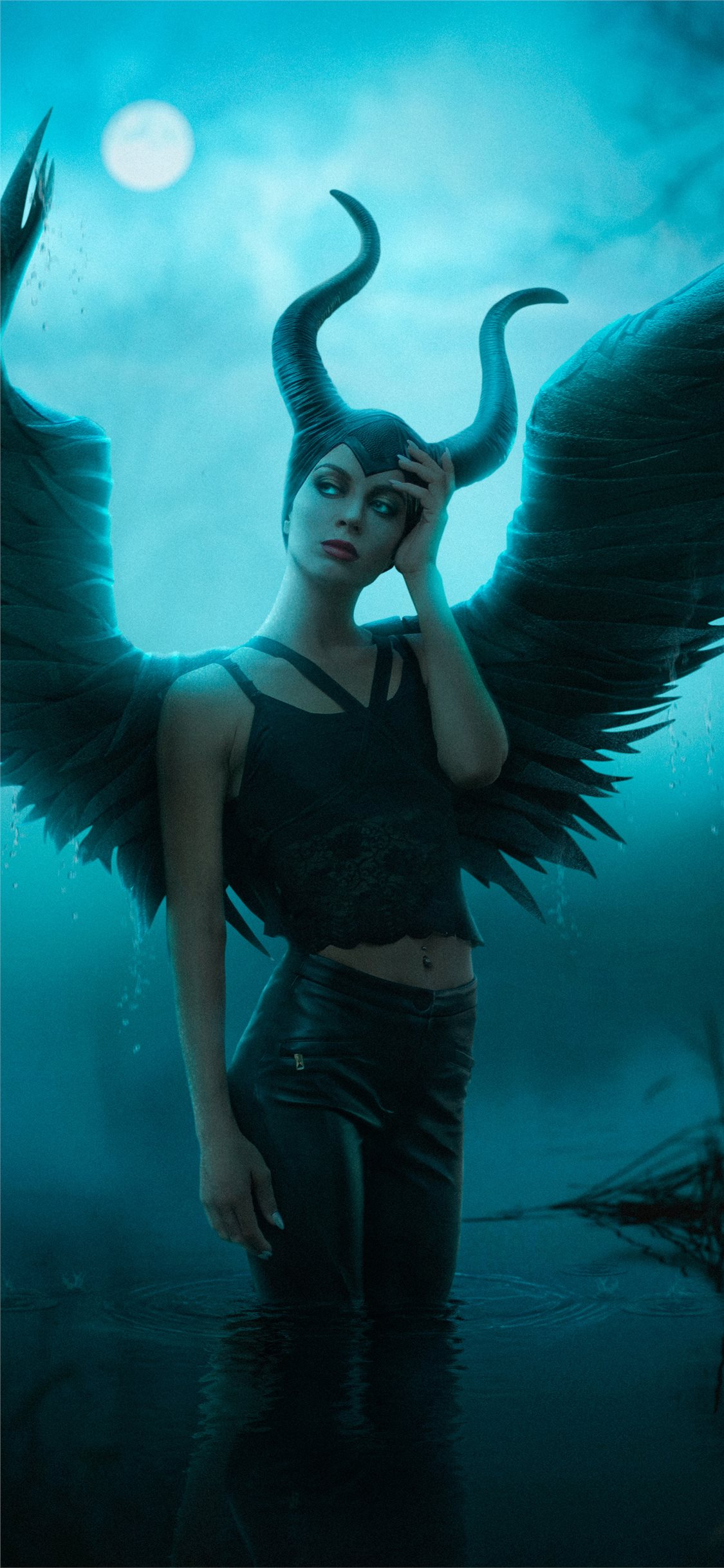 Maleficent Cosplay 4k Iphone Wallpapers Free Download