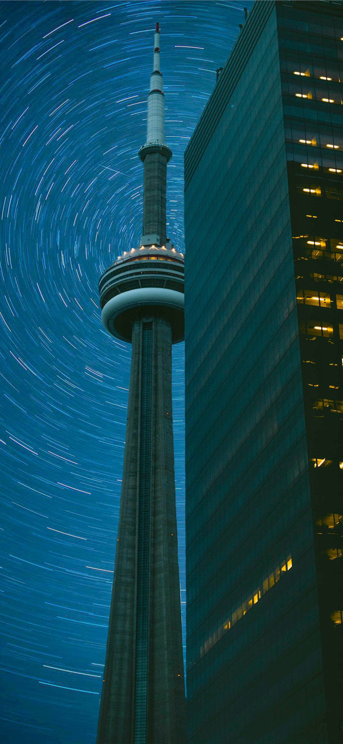 Cn Tower In Time Lapse Photography Iphone X Wallpapers Free