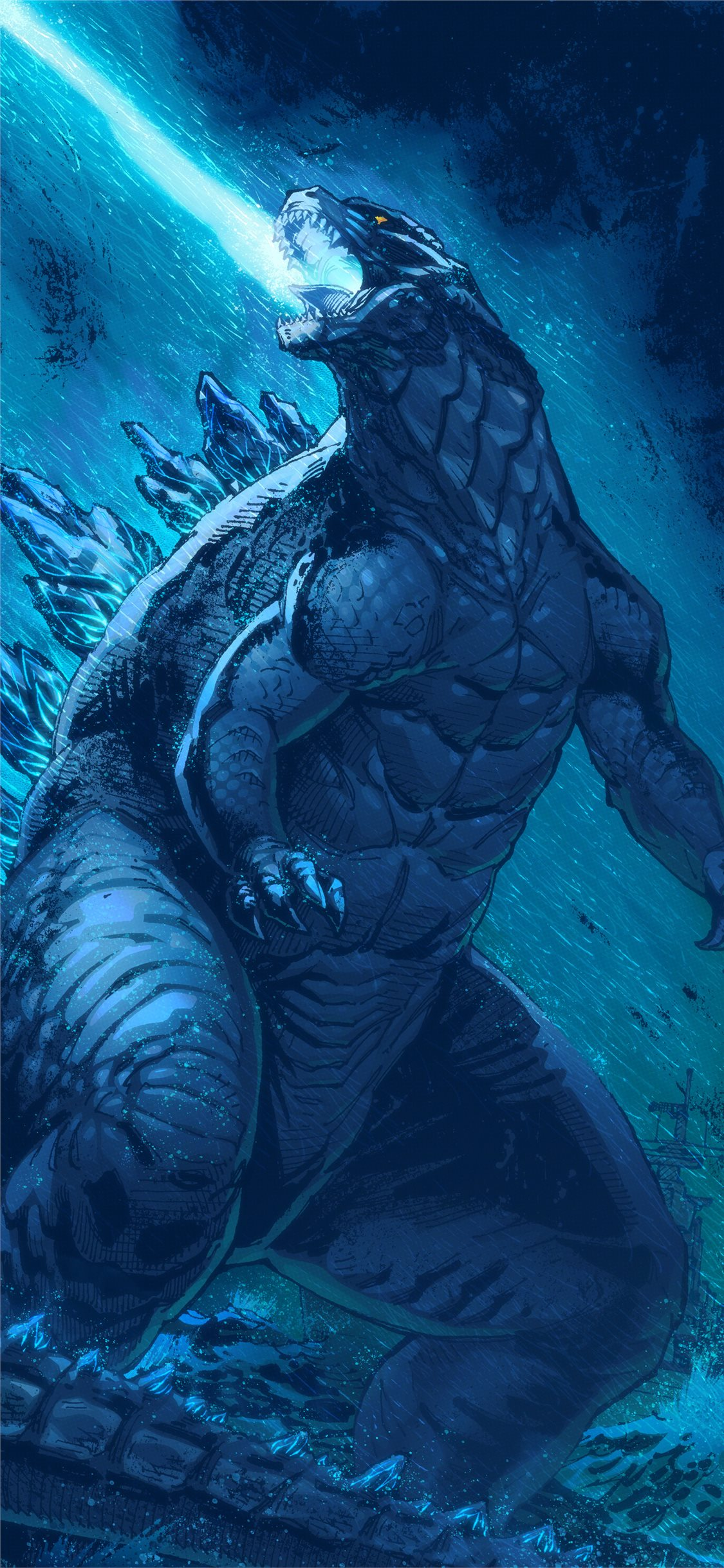 Artwork Godzilla King Of The Monsters Iphone X Wallpapers Free