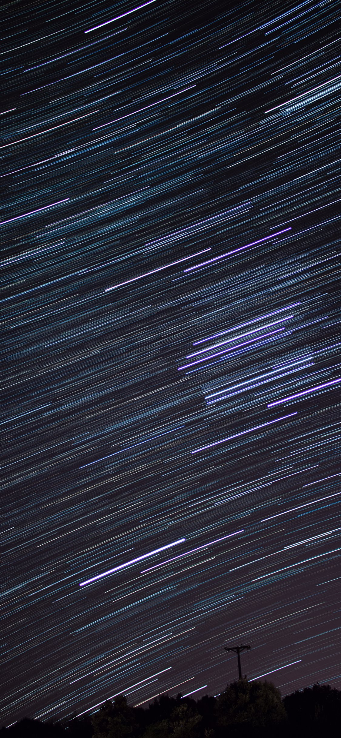 Time Lapse Photography Of Falling Stars Iphone X Wallpapers