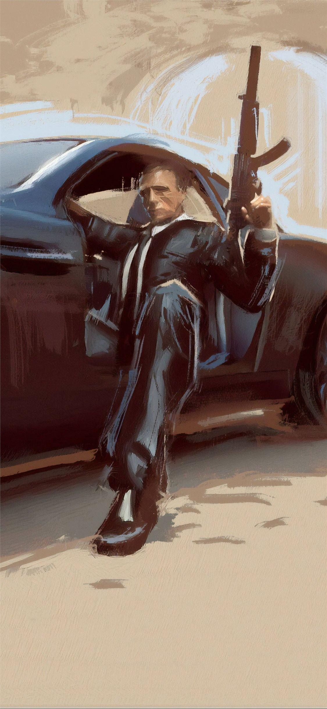James Bond Car Art Iphone X Wallpapers Free Download