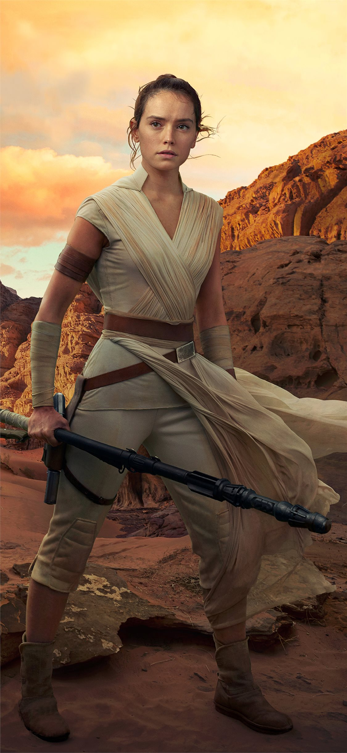 Rey Star Wars The Rise Of Skywalker 2019 4k Iphone X Wallpapers Free Download