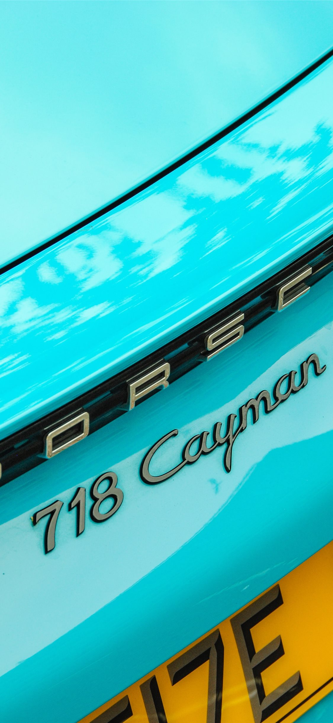 Teal Porsche Cayman 718 S Iphone X Wallpapers Free Download