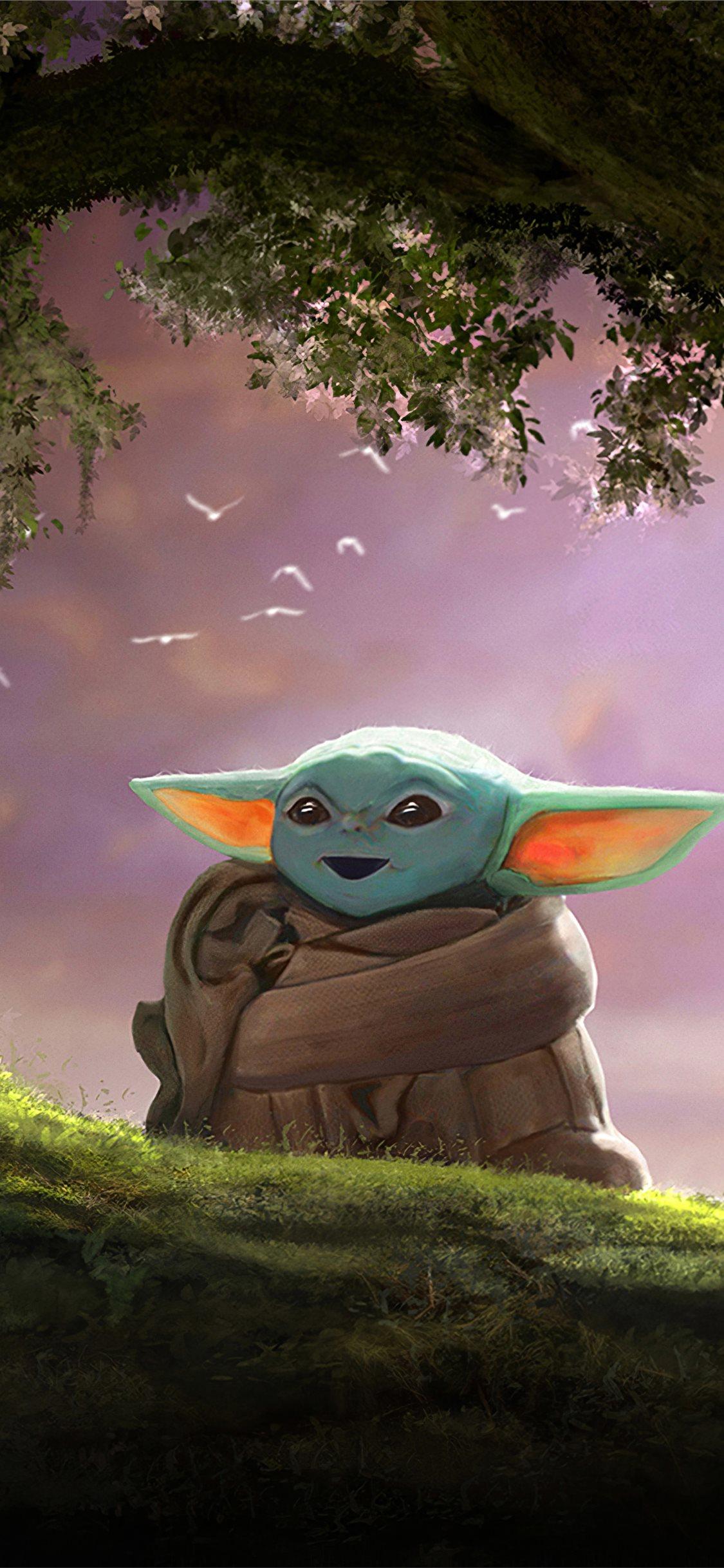 Baby Yoda Fanart 4k Iphone X Wallpapers Free Download