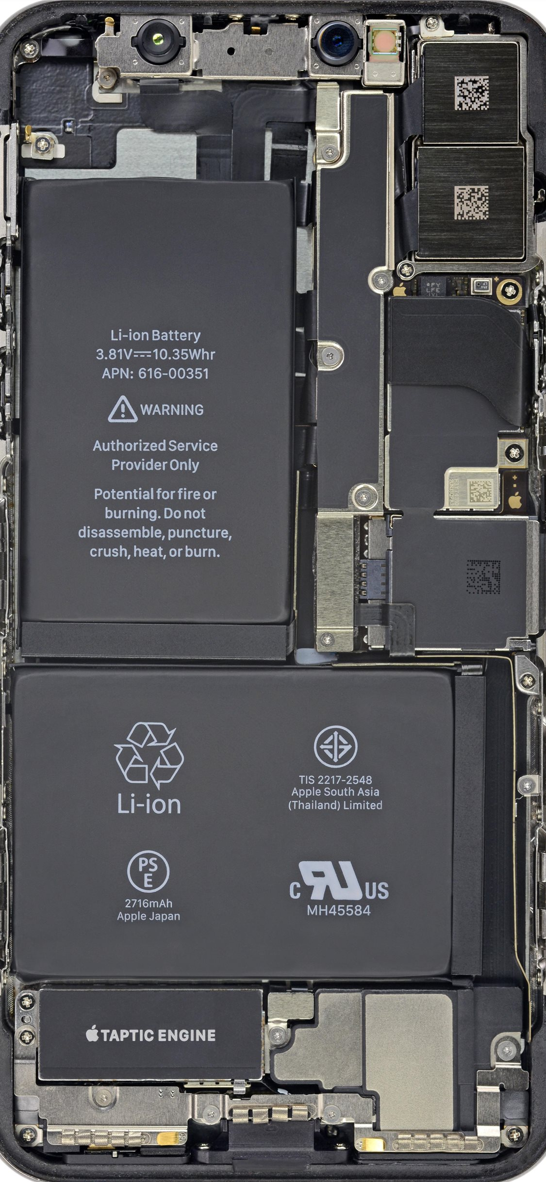 Cool Insides By Ifixit Battery Hd iphone x wallpaper ilikewallpaper com