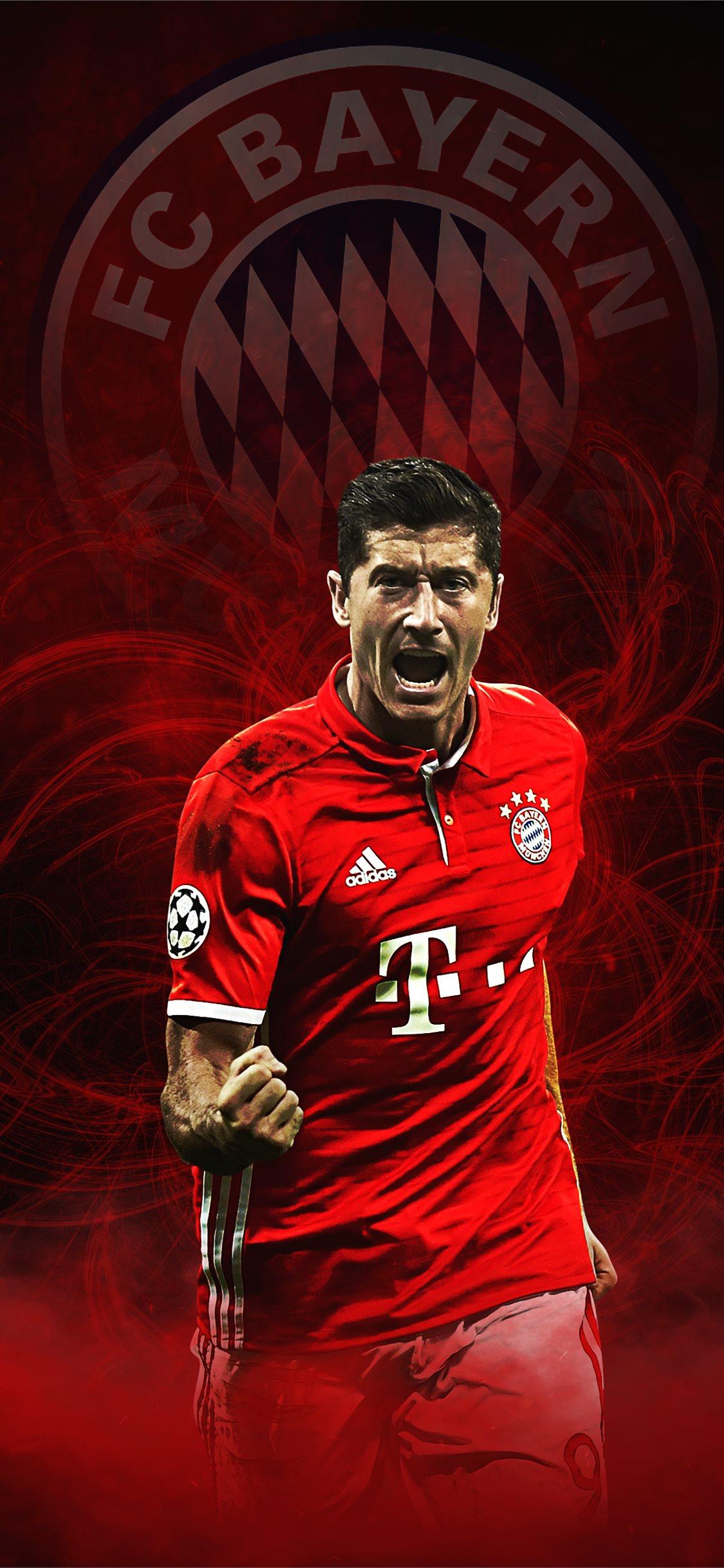 98 Lewandowski Bayern Munich On Afari Iphone X Wallpapers Free Download