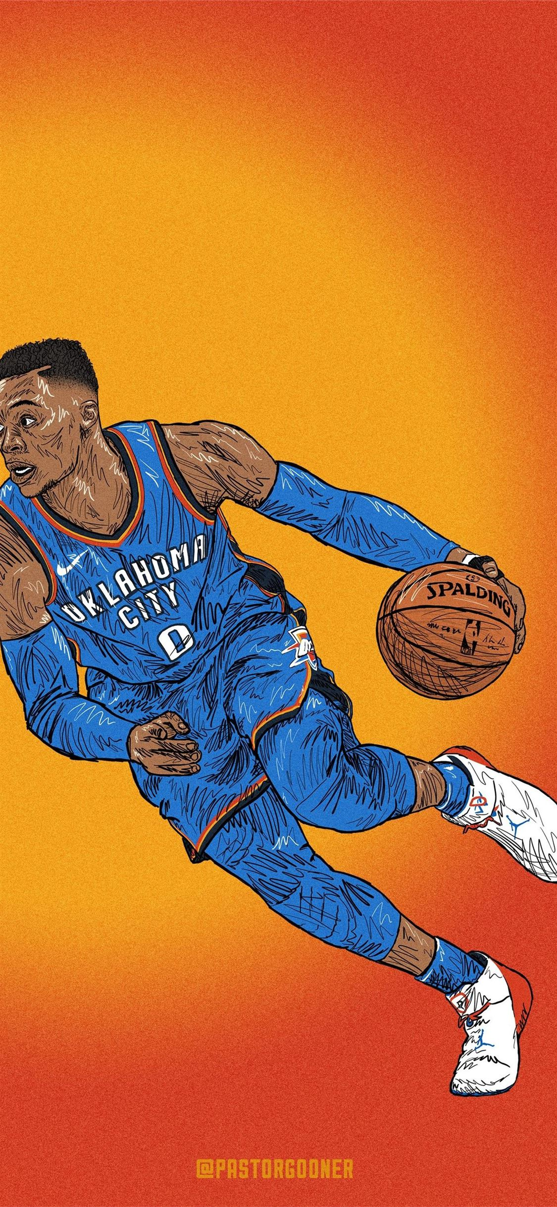 Westbrook Basketball Player Hd Iphone X Wallpapers Free Download