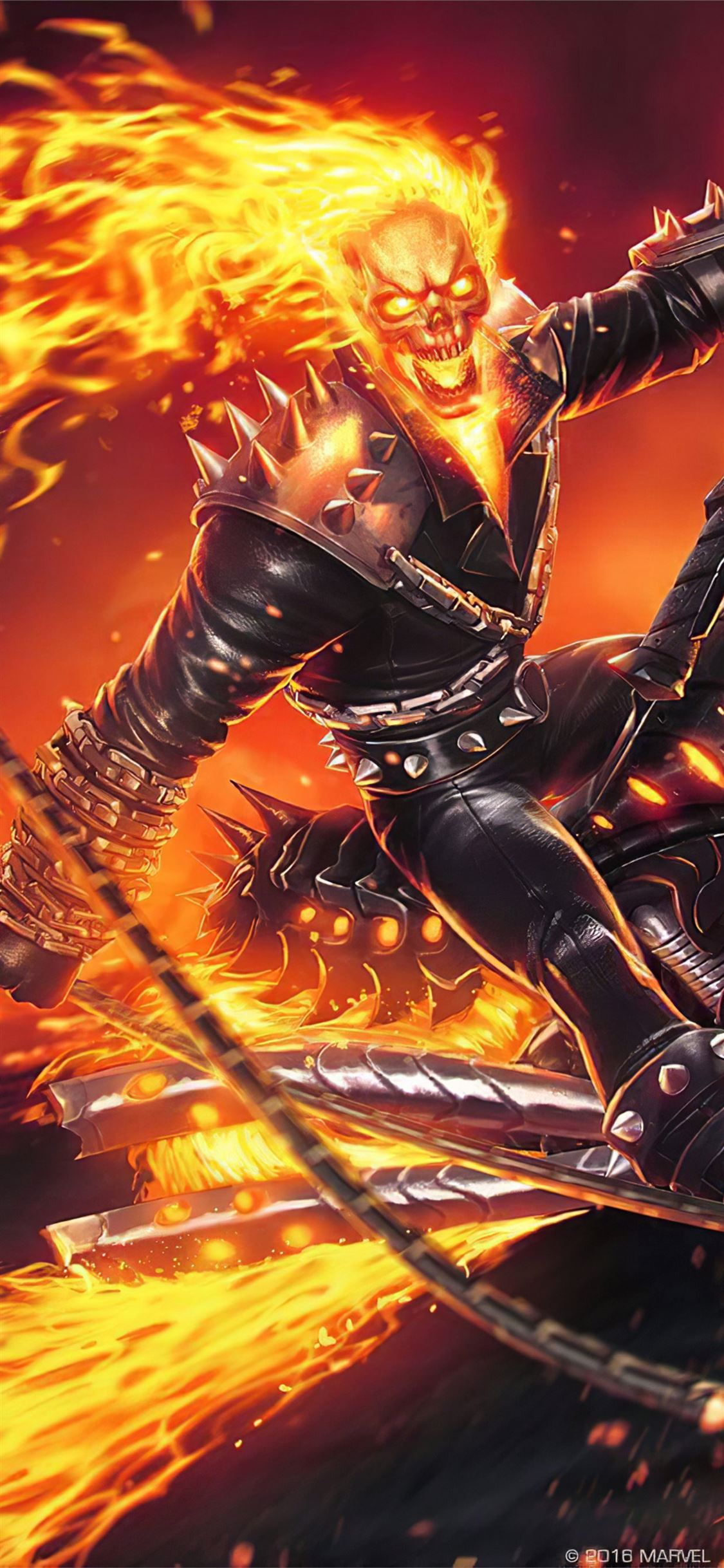 4k Ghost Rider Contest Of Champions Iphone X Wallpapers Free Download