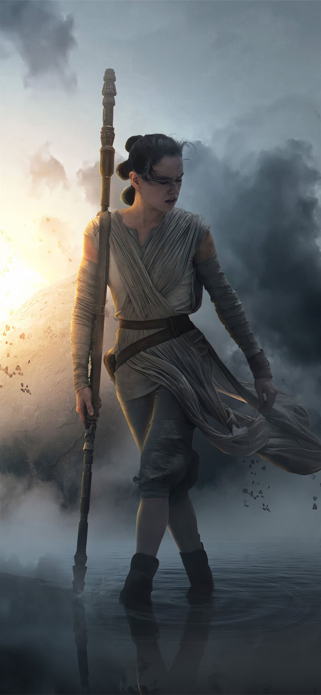 Rey Star Wars The Rise Of Skywalker 4k Iphone X Wallpapers Free Download