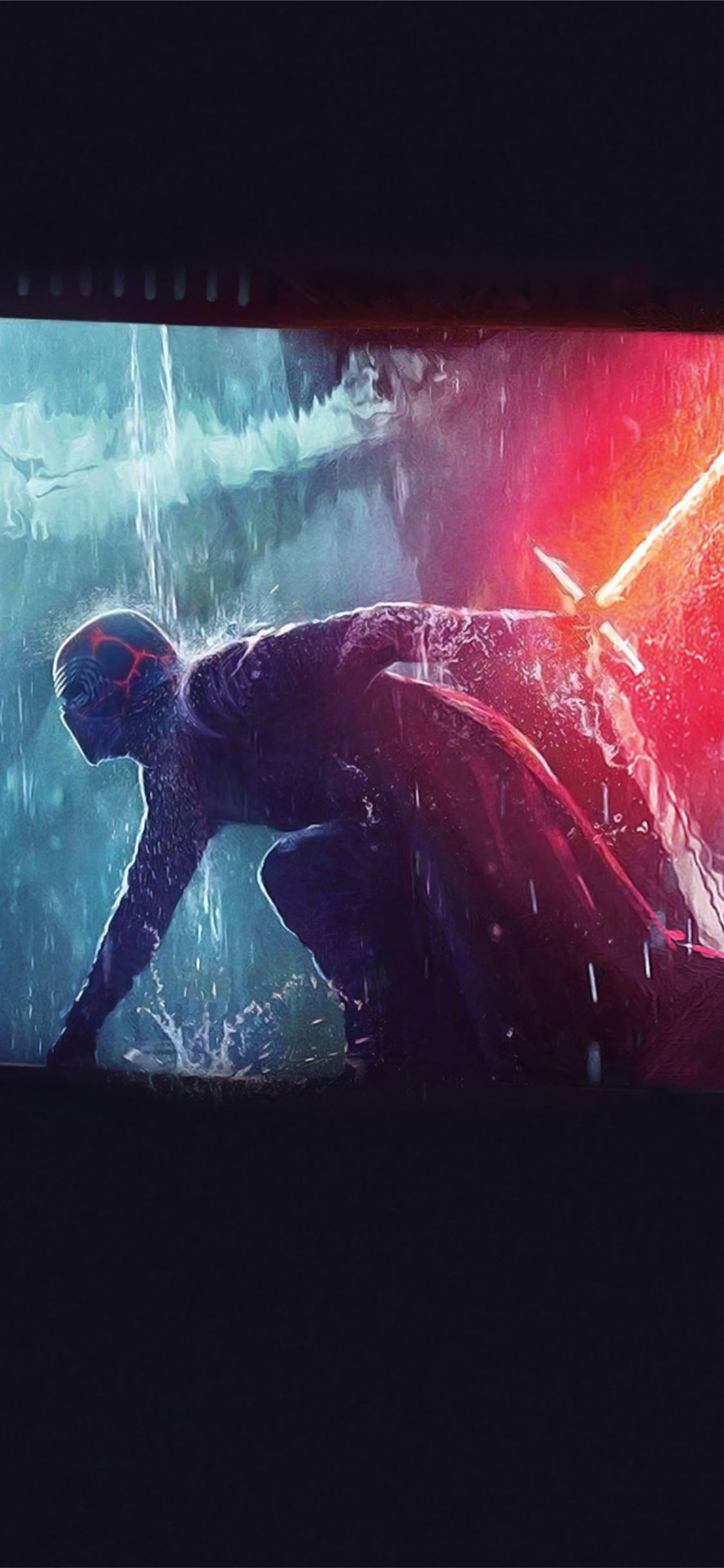 Star Wars The Rise Of Skywalker Rey Vs Kylo Ren Iphone X Wallpapers Free Download