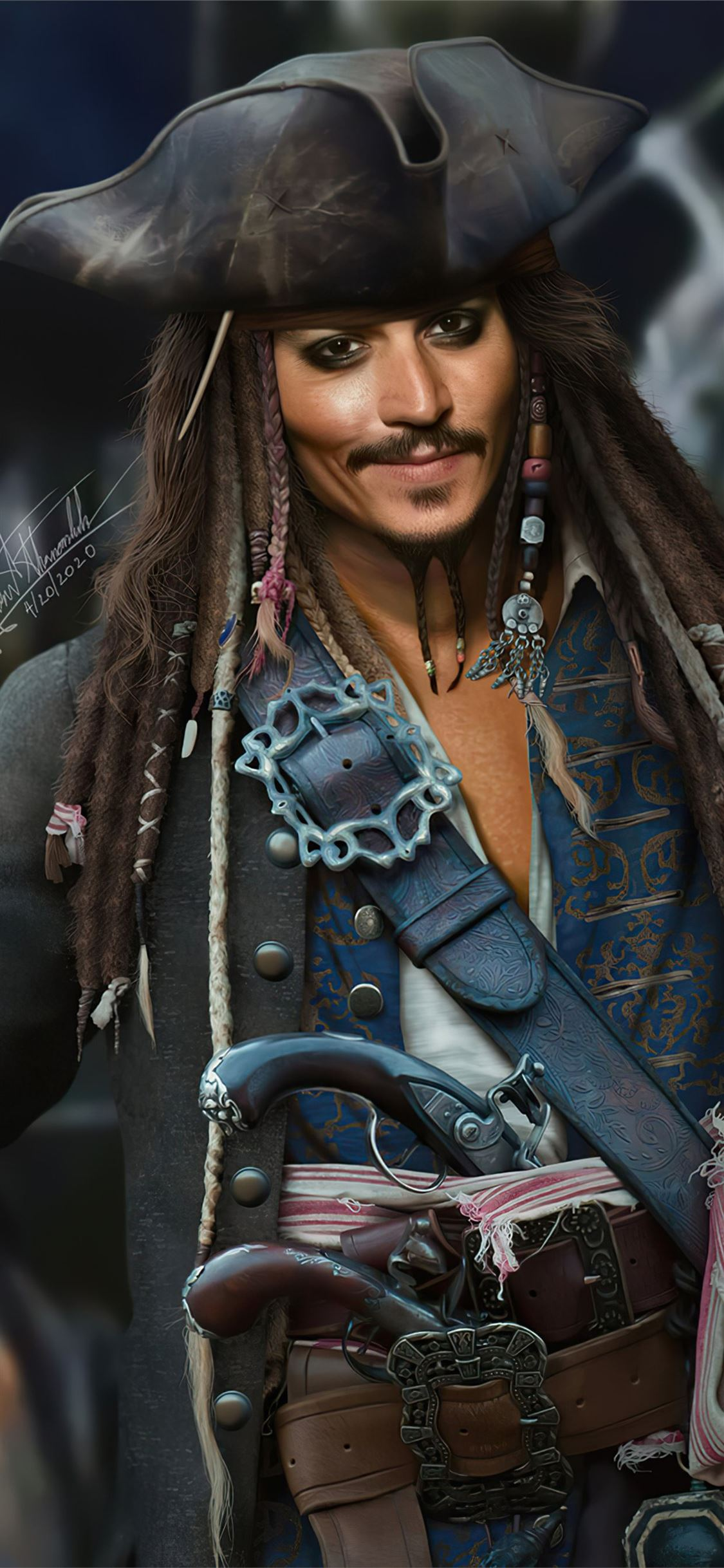 jack sparrow fanart 4k iPhone X