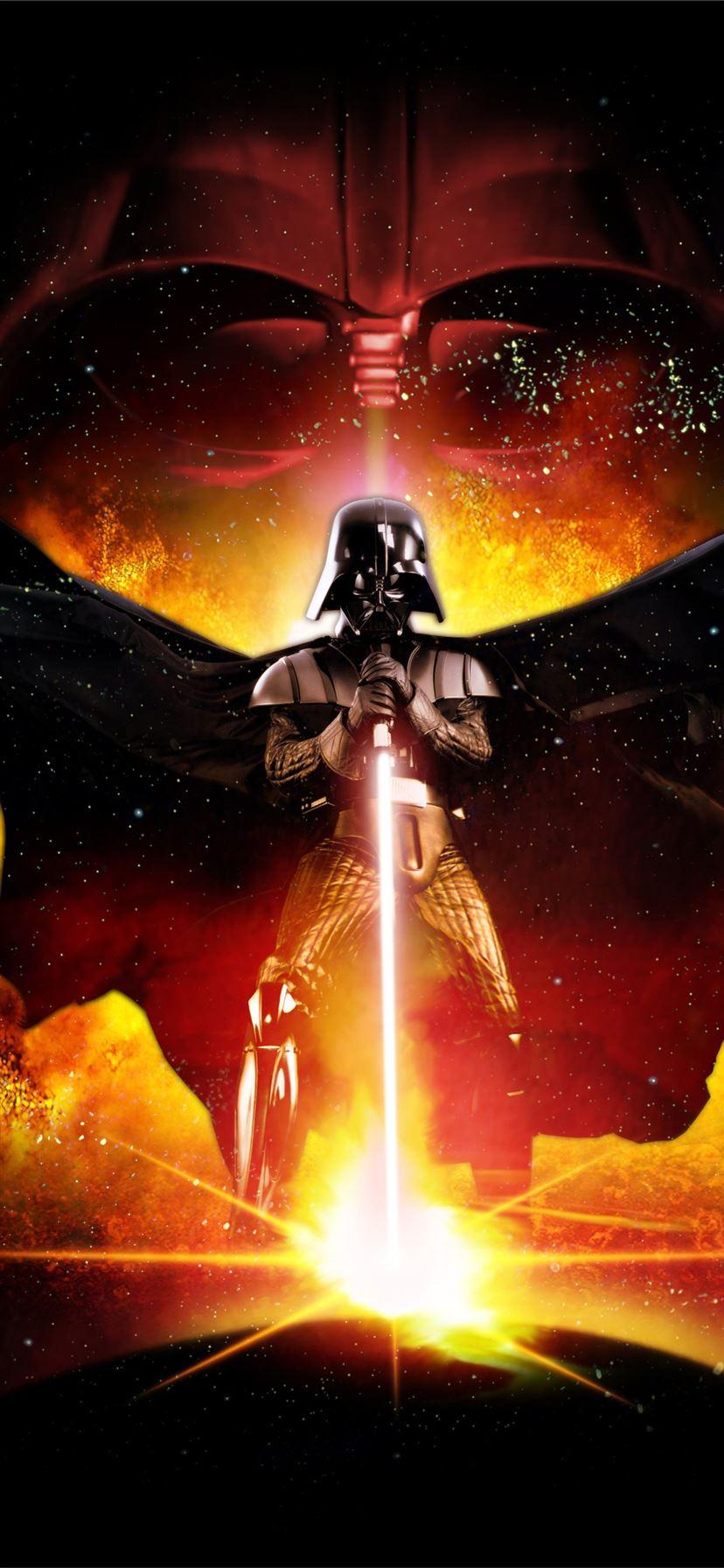 darth vader star wars poster 4k iPhone X Wallpapers Free Download