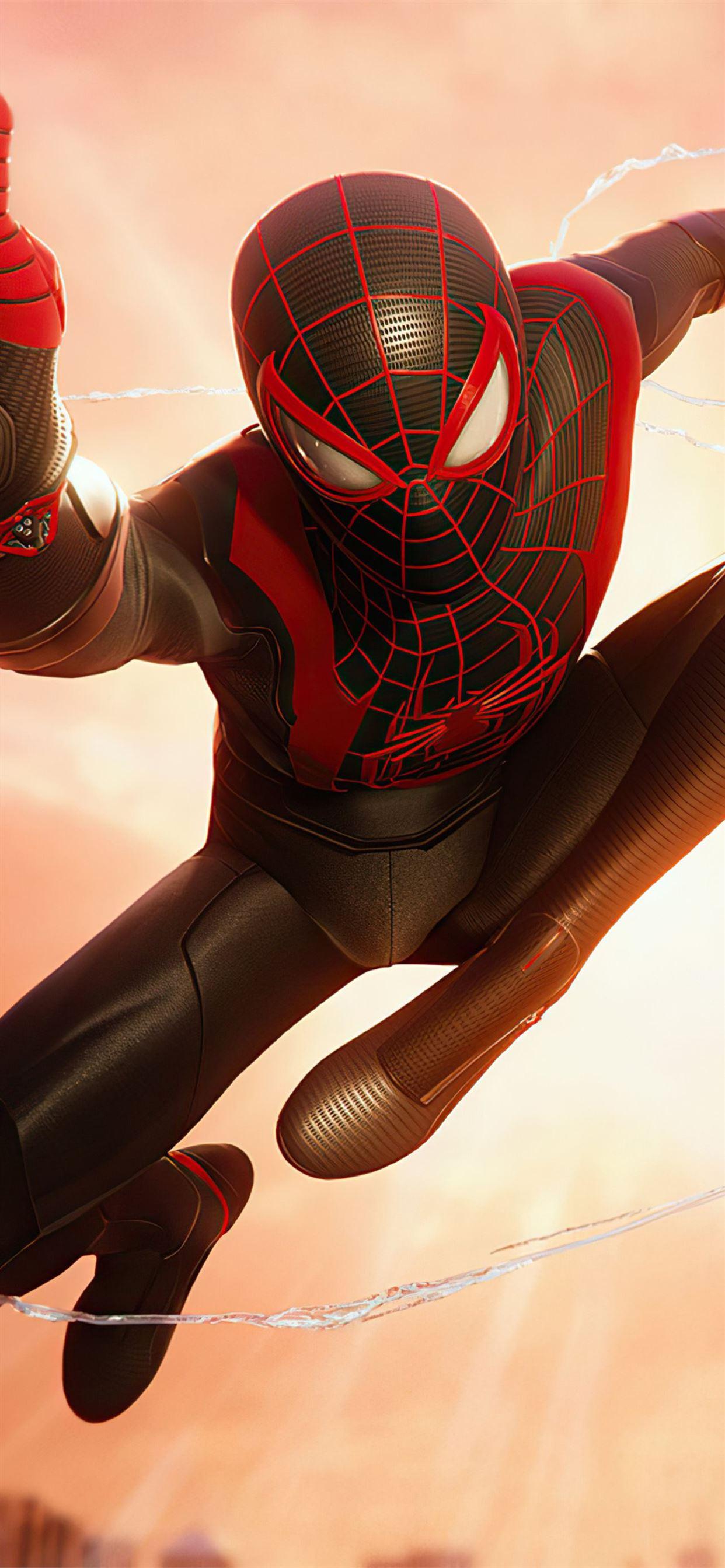 4k Marvels Spiderman Miles Morales Iphone X Wallpapers Free Download