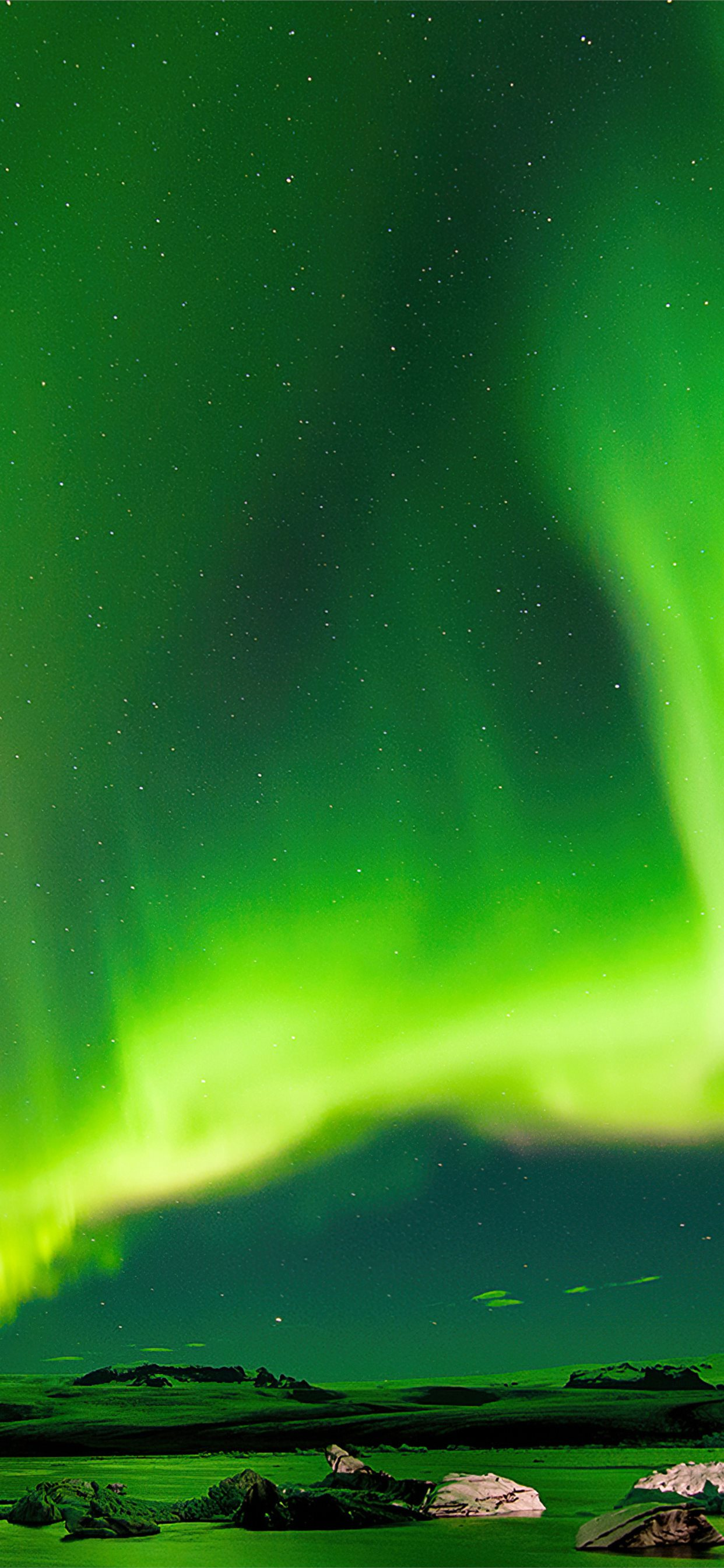 Aurora Green Bliss 4k Iphone X Wallpapers Free Download