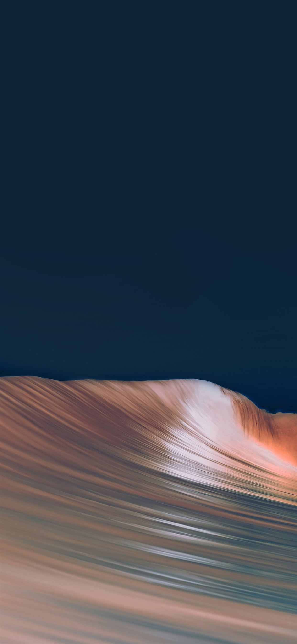 Rolling wave art dark simple minimal iPhone X Wallpapers ...