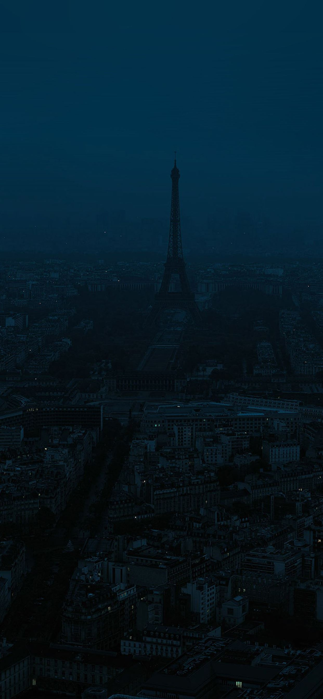 Paris Dark Blue City Iphone X Wallpapers Free Download