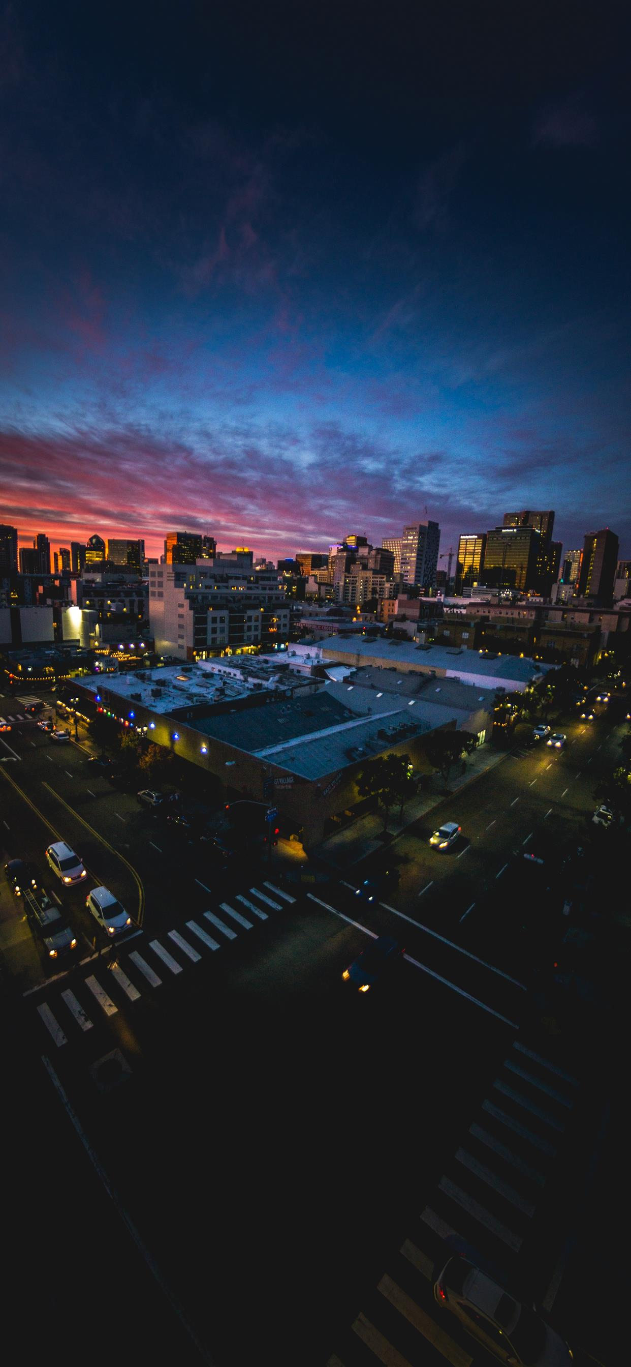 San Diego Sunset Through A Fisheye Lens Iphone Wallpapers
