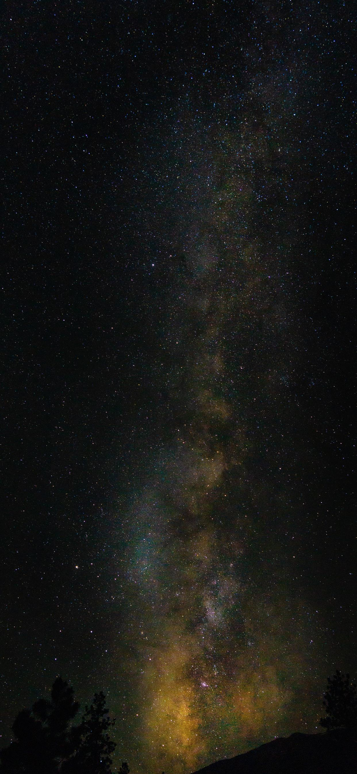 Galaxy Over Mount Princeton iphone xs max wallpaper