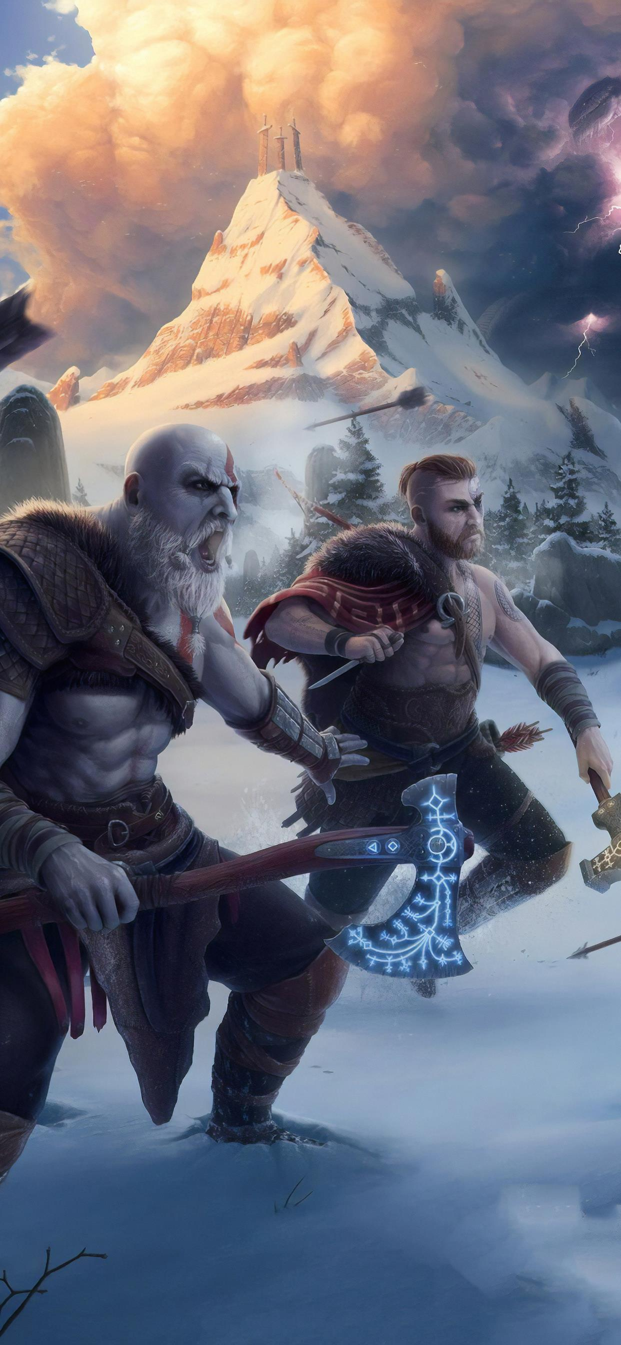 God Of War 4k Artwork Iphone Wallpapers Free Download