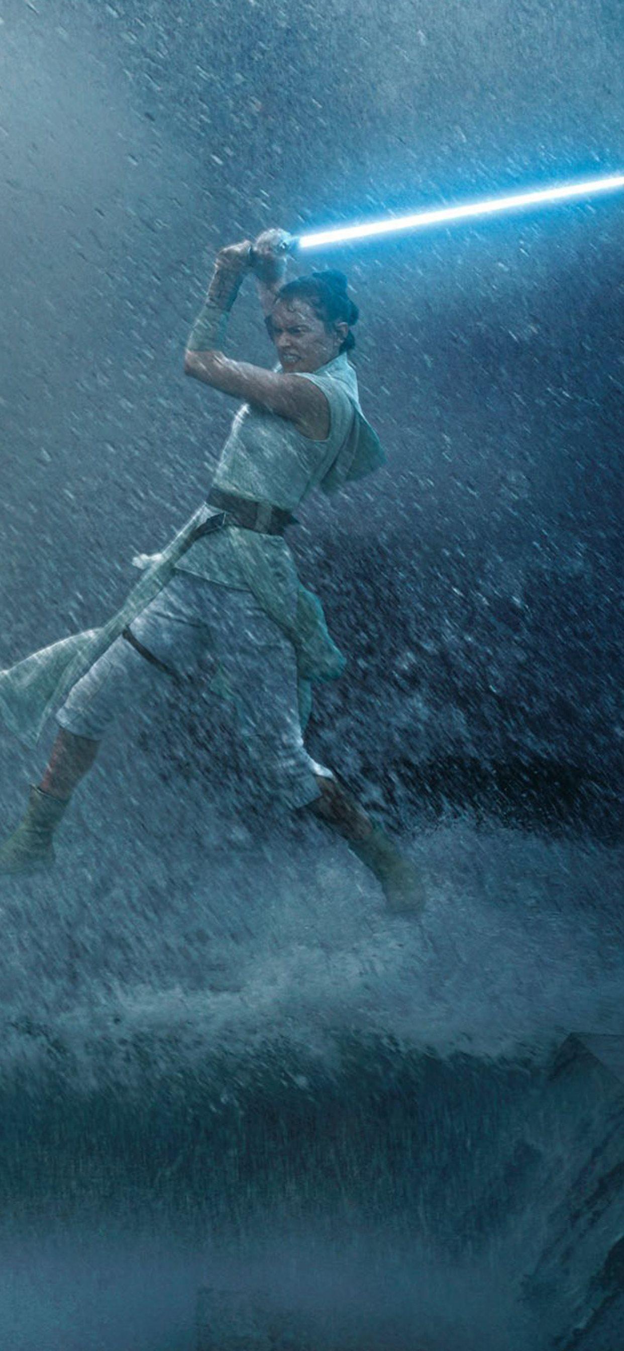 Rey Vs Kylo Ren Star Wars The Rise Of Skywalker Iphone Wallpapers